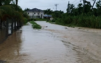 Flooding in several parts of South Trinidad